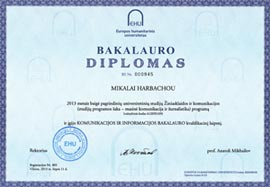 Bachelor of Communication and Information, European Humanities University