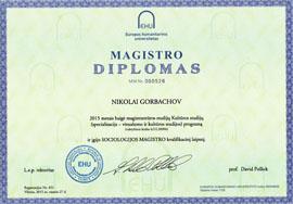 Master of Arts in Sociology, European Humanities University